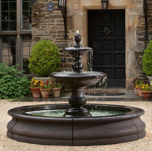 Water fountain backyard pool design ideas for Backyard water fountain ideas