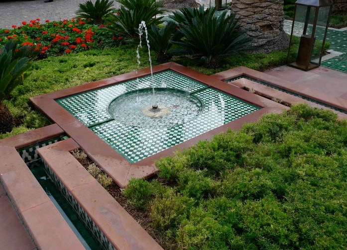 Water Fountains For Backyard Pool Design Ideas