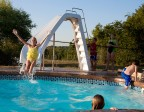 White Water Pool Slide