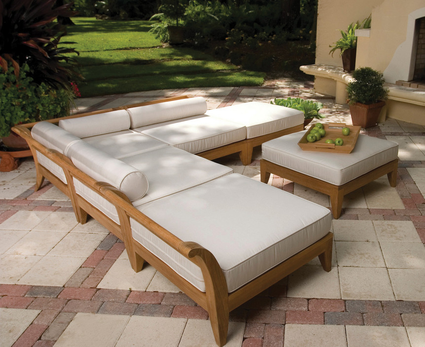 Wooden outdoor pool furniture pool design ideas for Pool and patio furniture