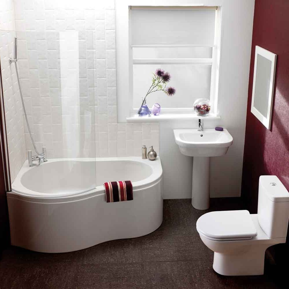 Corner Bathtub Shower Combo Small