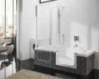 Corner Shower and Tub Combo