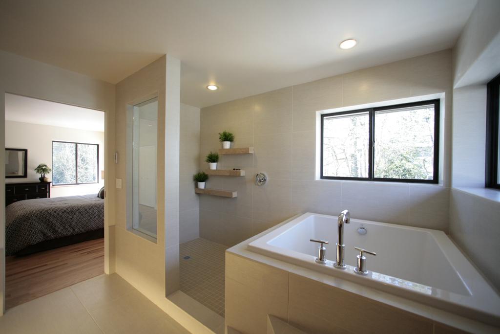 Corner Shower Tub Small Bathroom