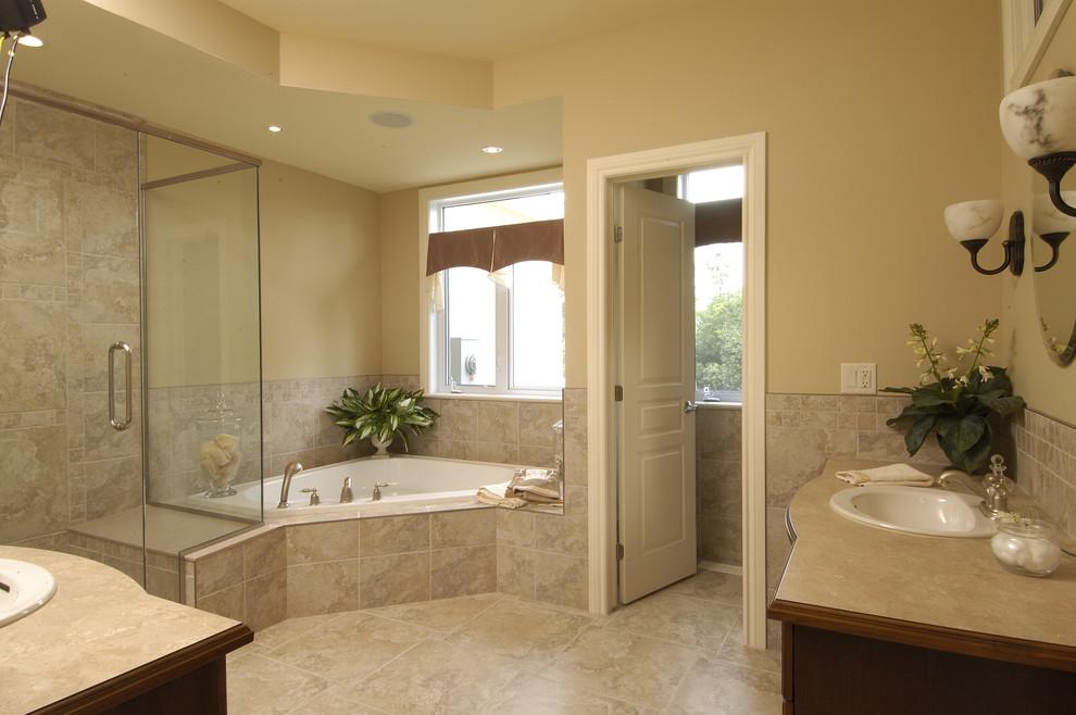 corner tub and shower combo | pool design ideas Tub Shower Design Ideas