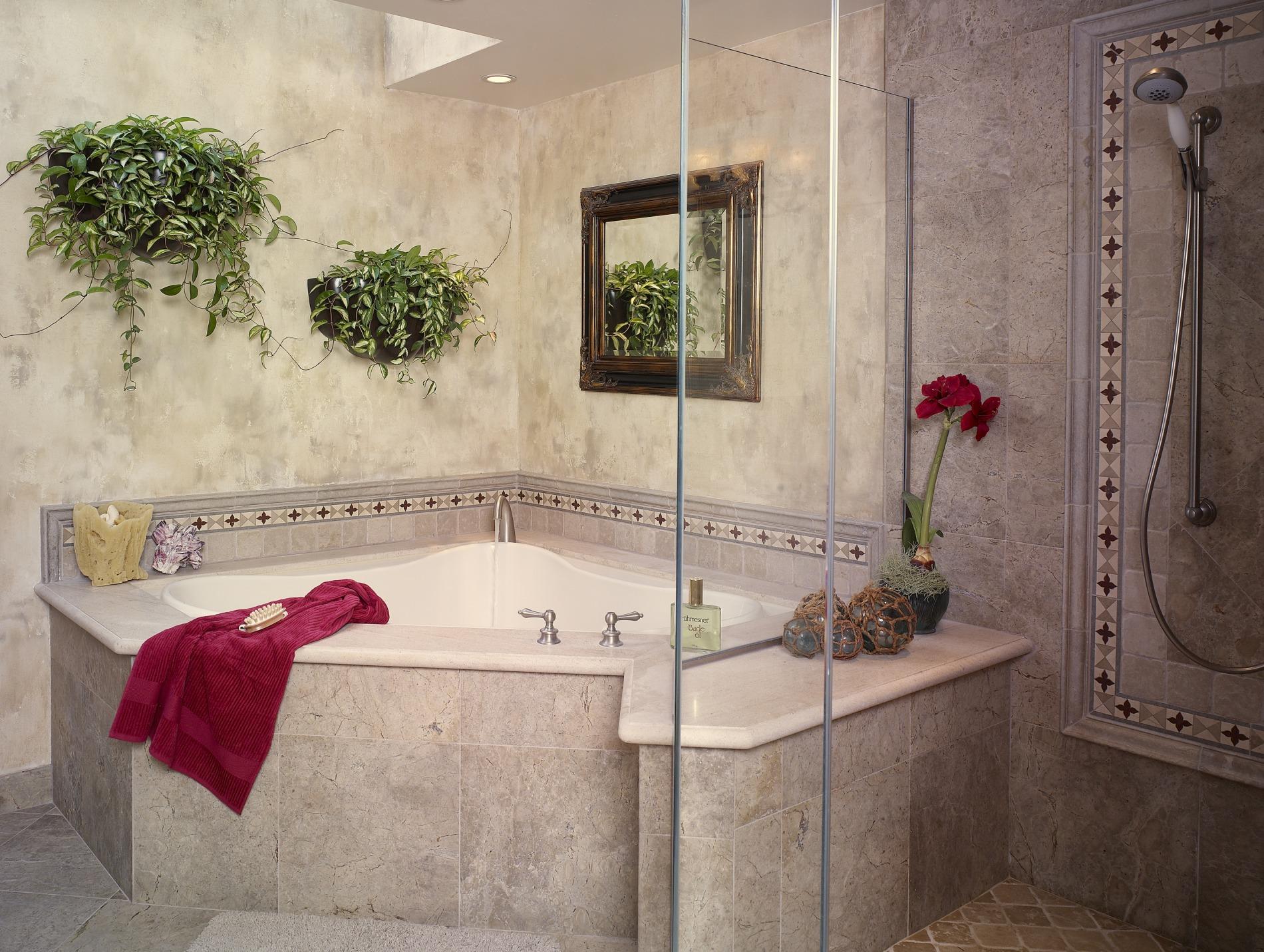 Corner Tub And Shower Pool Design Ideas