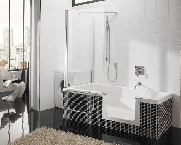 Corner Tub Shower Combination