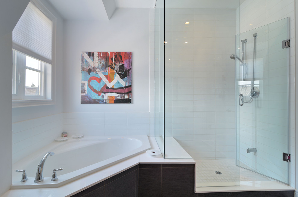 Corner Tub Shower Combo Pool Design Ideas