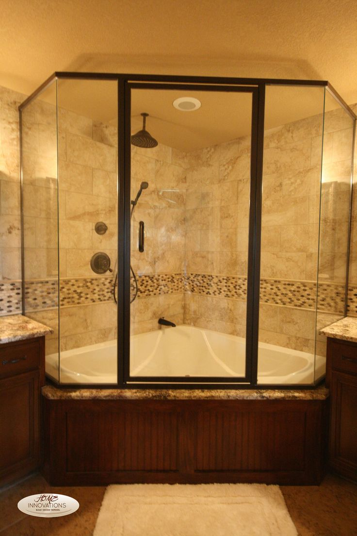 Corner Tub Shower | Pool Design Ideas