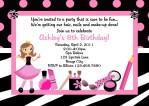 Girls Spa Party Invitations