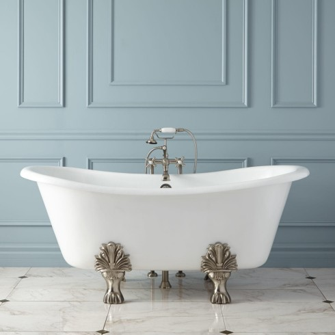 How to Refinish a Cast Iron Bathtub