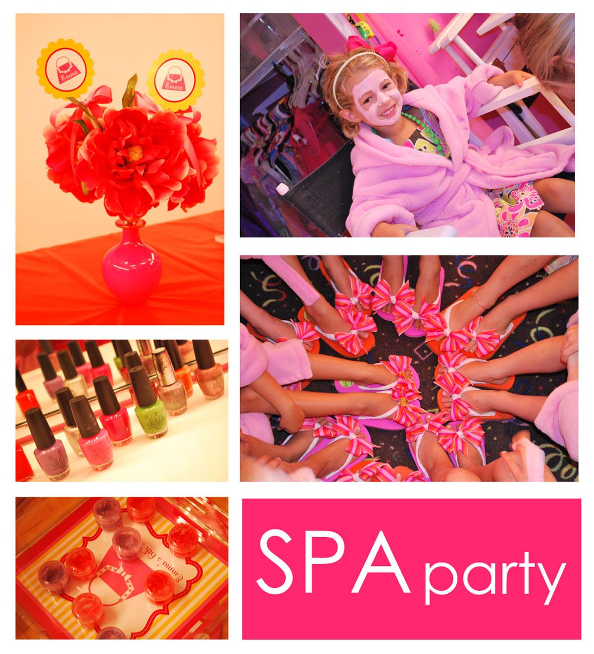 Little Girls Spa Party Supplies