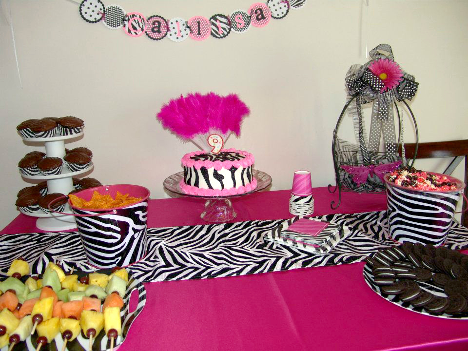 Pink Zebra Spa Party Supplies