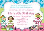 Printable Spa Birthday Party Invitations