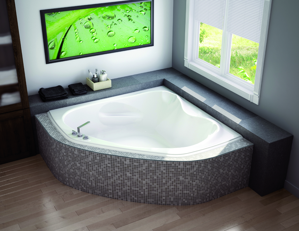 Small corner bathtub are definitely worth considering for Bathroom tub size