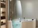 Small Corner Bathtub with Shower