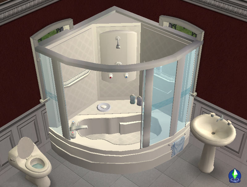 Small Corner Tub Shower Pool Design Ideas