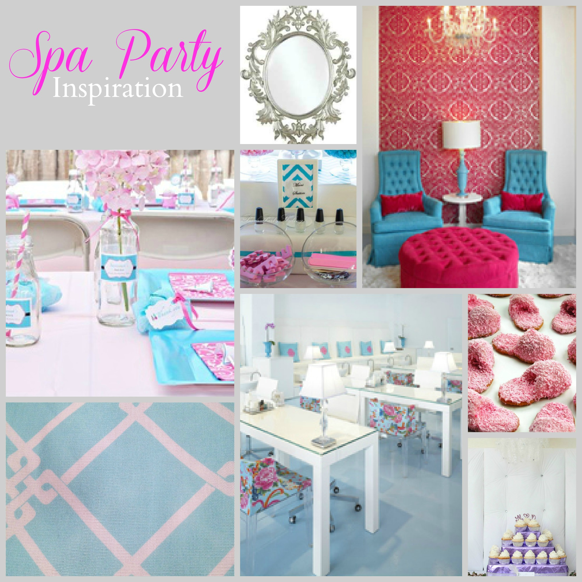 Spa birthday party ideas pool design ideas for Home sweet home party decorations
