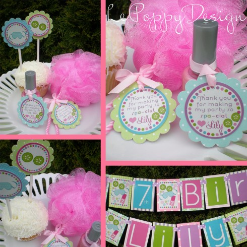 Spa Birthday Party Supplies