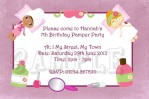 Spa Party Birthday Invitations