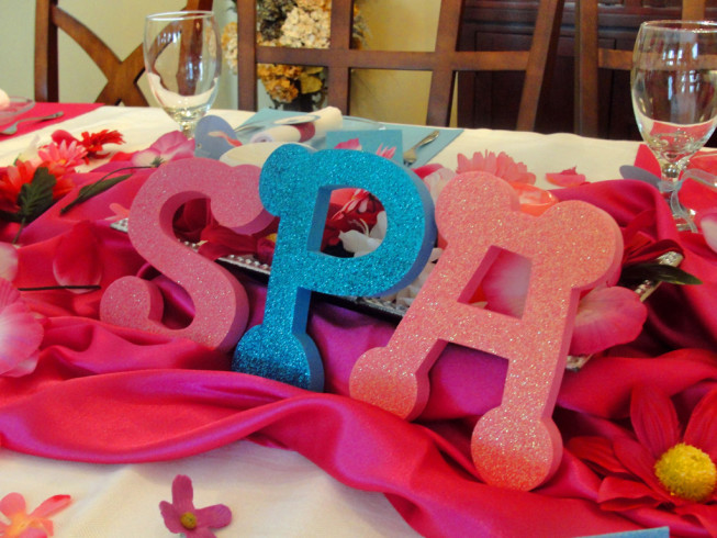 Spa Party Centerpieces