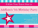 Spa Party Invitations for Girls