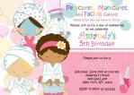 Spa Party Invitations Free Printable