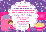 Spa Slumber Party Invitations